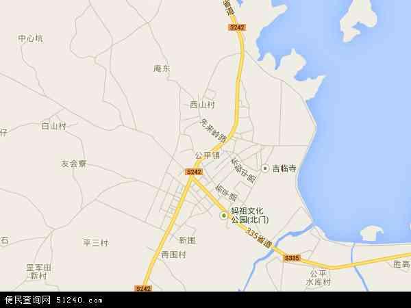 中国广东省汕尾市海丰县公平镇地图(卫星地图)