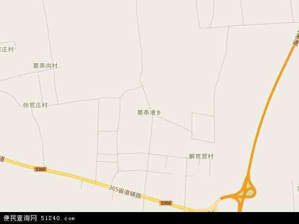 中国河北省秦皇岛市昌黎县葛条港乡地图(卫星地图)