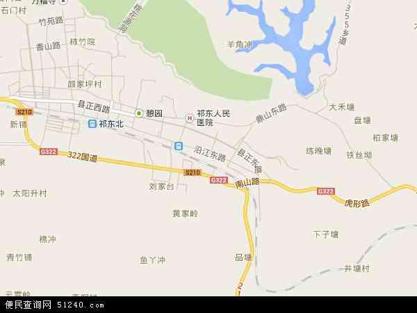 中国湖南省衡阳市祁东县洪桥镇地图(卫星地图)