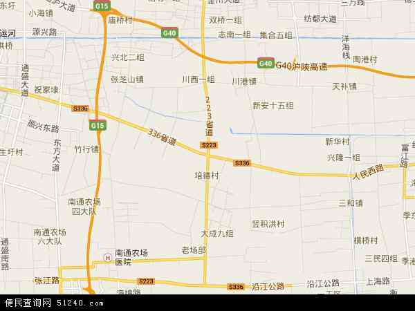 中国江苏省南通市海门市海门港新区地图(卫星地图)