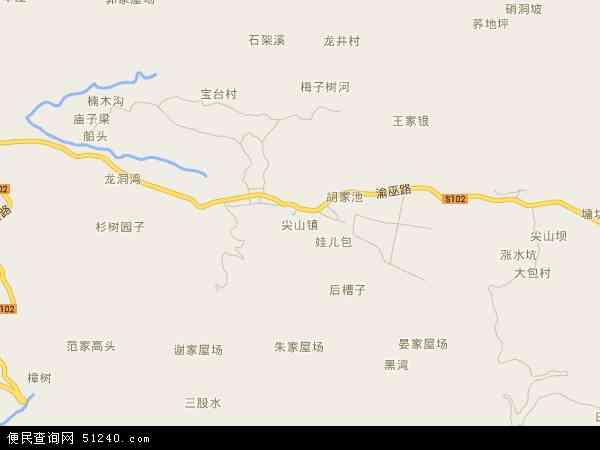 中国 重庆市 > 县 >  巫溪县 尖山镇  尖山镇卫星地图 本站收录有:201