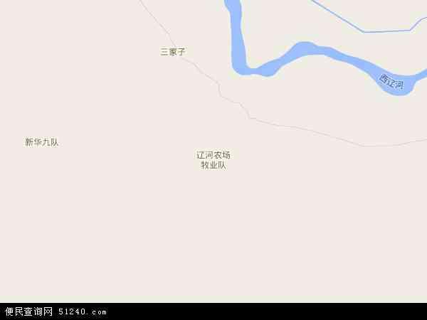 辽河农场地图 - 辽河农场卫星地图