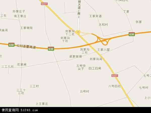 中国甘肃省张掖市甘州区梁家墩镇地图(卫星地图)