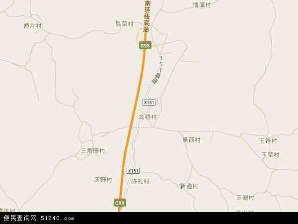 中国海南省海口市龙华区龙桥镇地图(卫星地图)