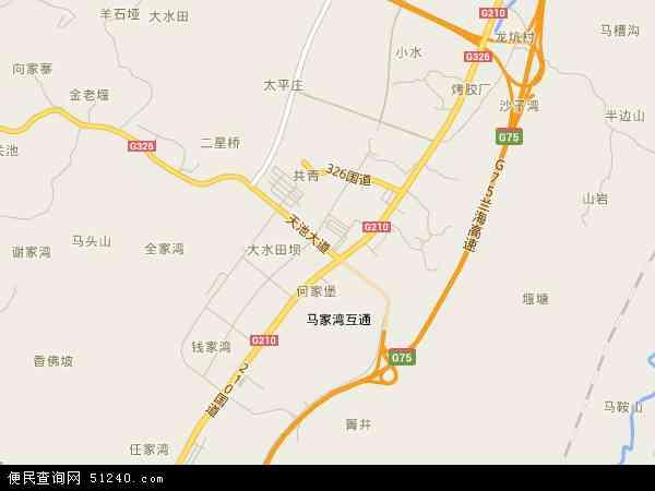 龙坑镇高清卫星地图 龙坑镇2016年卫星地图 中国贵州省遵义市遵义