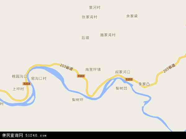 中国陕西省商洛市山阳县南宽坪镇地图(卫星地图)