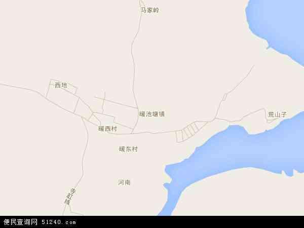中国辽宁省葫芦岛市南票区暖池塘镇地图(卫星地图)