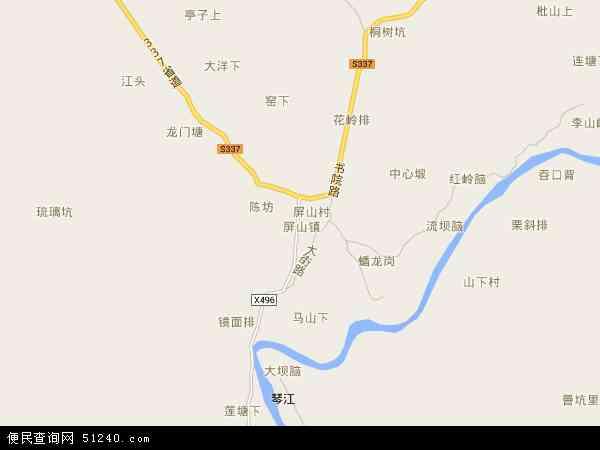 屏山镇地图 - 屏山镇卫星地图