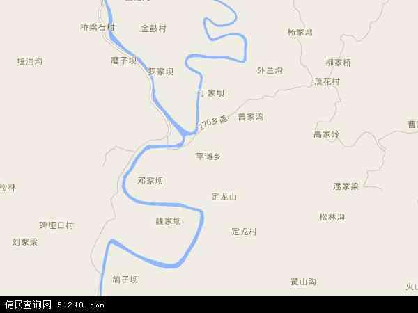 平滩乡2018年卫星地图 中国四川省达州市达川区平滩乡地图