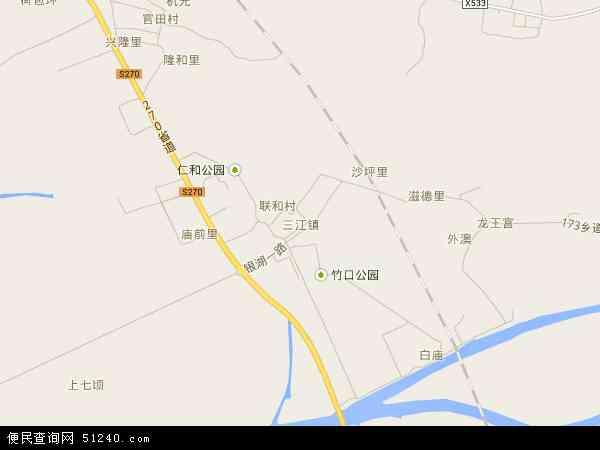 三江镇地图 三江镇卫星地图 三江镇高清航拍地图 三江镇高清卫星地图 图片