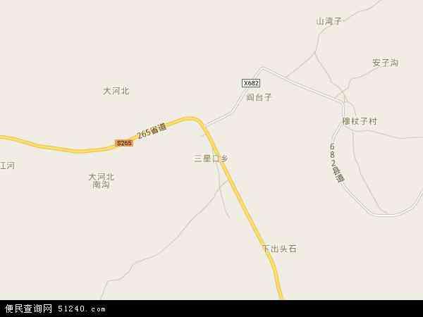 中国河北省秦皇岛市青龙满族自治县三星口乡地图(卫星地图)