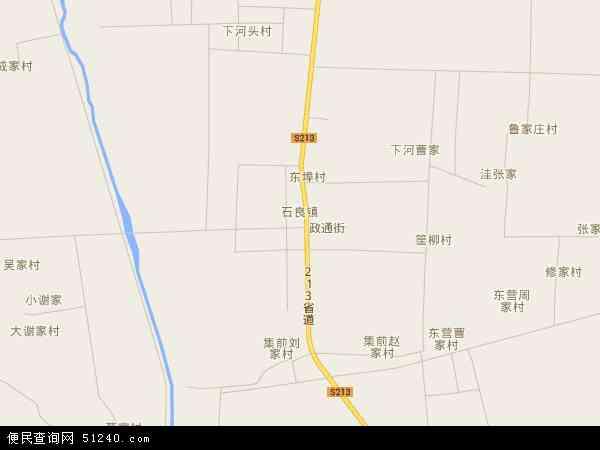 中国山东省烟台市龙口市石良镇地图(卫星地图)