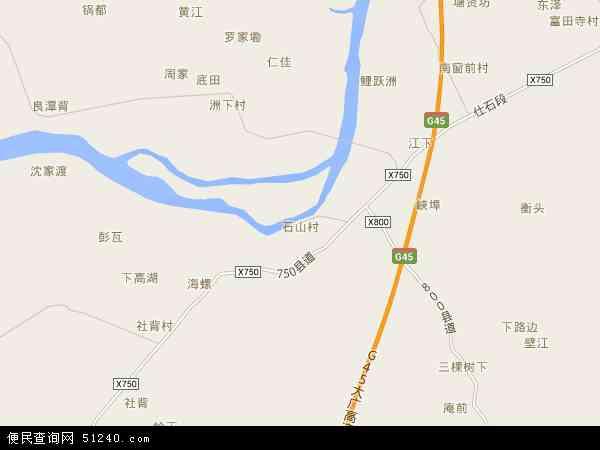 石山乡电子地图