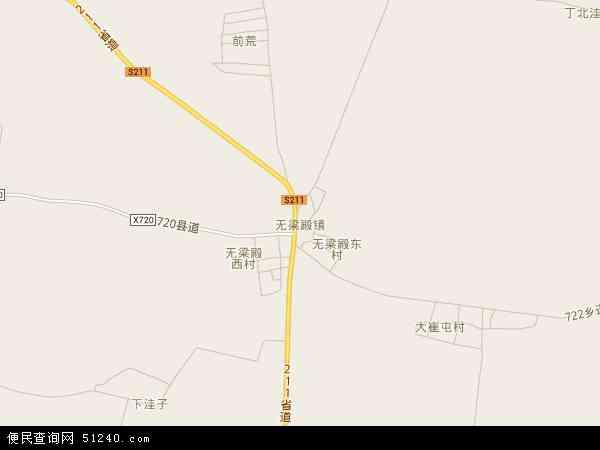 中国辽宁省锦州市黑山县无梁殿镇地图(卫星地图)