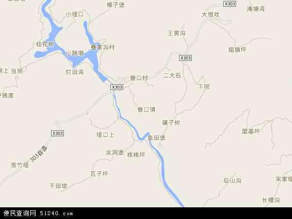 中国贵州省遵义市红花岗区巷口镇地图(卫星地图)