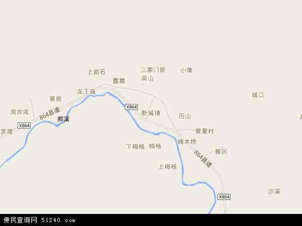 中国江西省吉安市井冈山市新城镇地图(卫星地图)