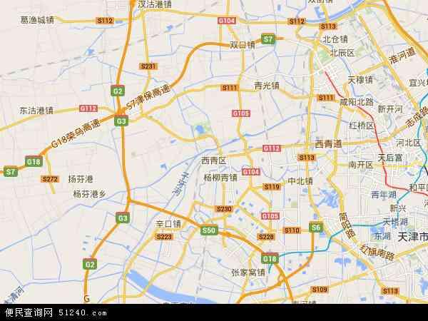 西青高校区地图 - 西青高校区卫星地图