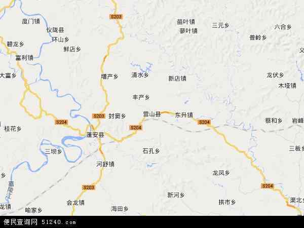 营山县地图 - 营山县卫星地图