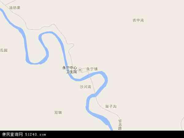 中国陕西省延安市志丹县永宁镇地图(卫星地图)