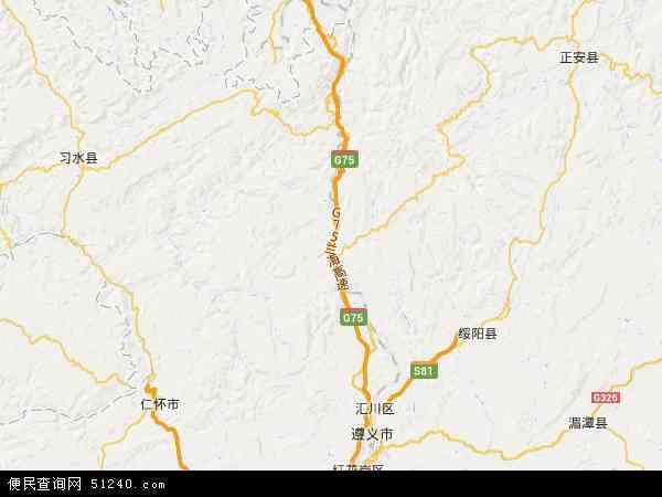 中国贵州省遵义市桐梓县尧龙山镇地图(卫星地图)