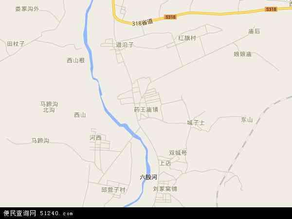 中国辽宁省葫芦岛市建昌县药王庙镇地图(卫星地图)