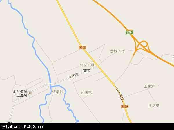 中国吉林省四平市伊通满族自治县营城子镇地图