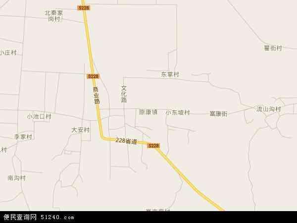 中国河南省安阳市林州市原康镇地图(卫星地图)