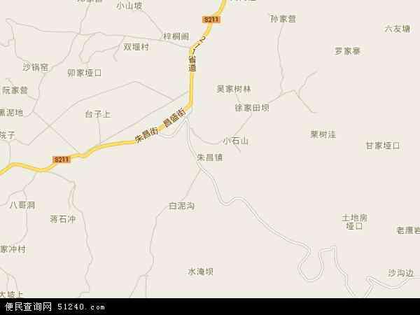 中国 贵州省 毕节市 七星关区 朱昌镇  朱昌镇卫星地图 本站收录有