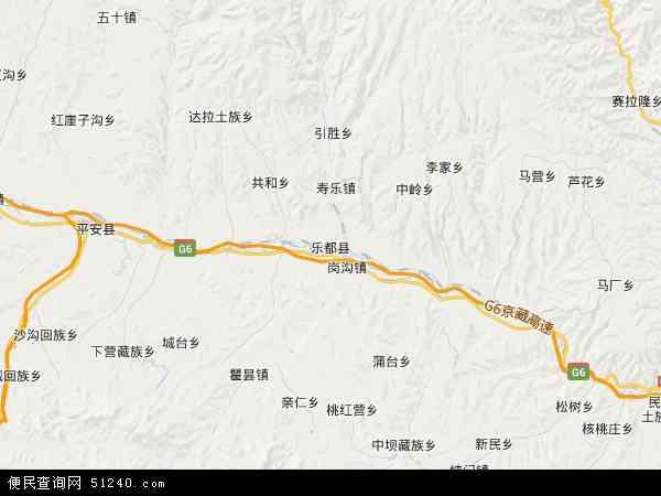 中坝乡高清卫星地图 中坝乡2016年卫星地图 中国青海省海东市乐都图片