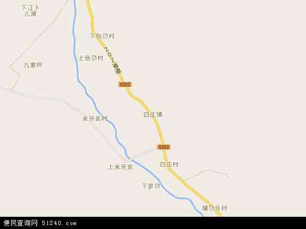 中国青海省海东市循化撒拉族自治县白庄镇地图(卫星地图)