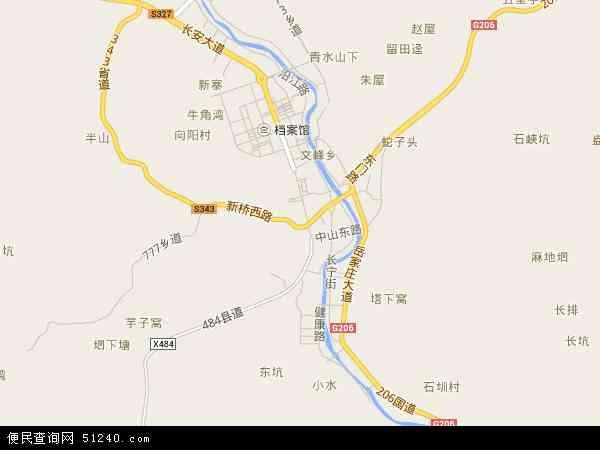 长宁镇2016年卫星地图 中国江西省赣州市寻乌县长宁镇地图图片