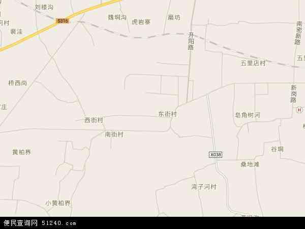 中国河南省郑州市新密市城关镇地图(卫星地图)