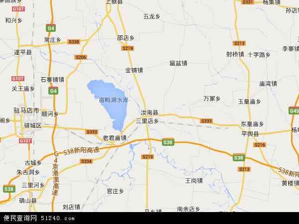 中国河南省驻马店市汝南县常兴镇地图(卫星地图)
