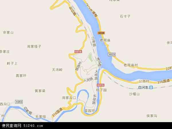 城关镇高清卫星地图 城关镇2018年卫星地图 中国陕西省安康市白河