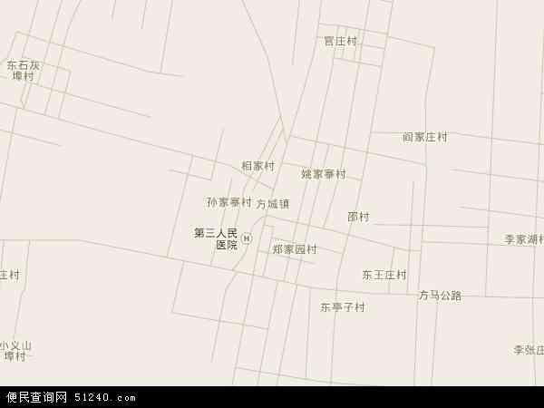 方城镇地图 - 方城镇卫星地图图片