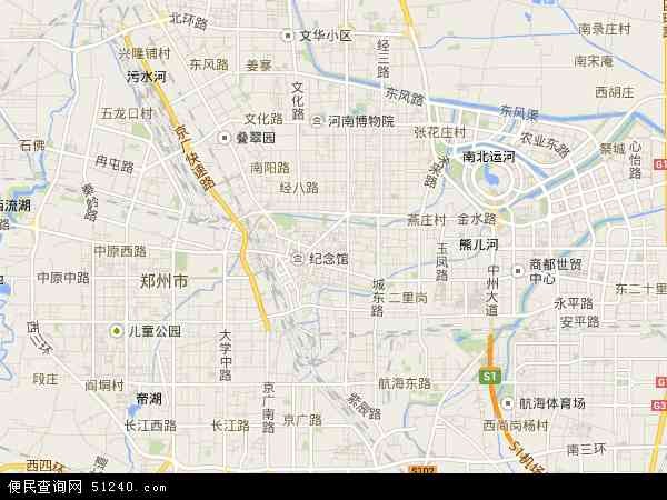 中国河南省郑州市管城回族区地图(卫星地图)