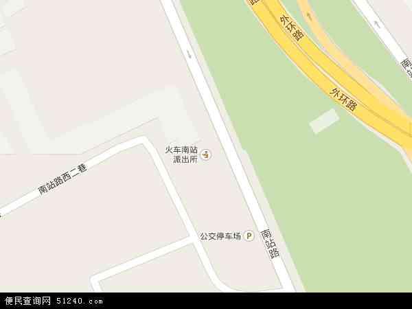 火车南站地图 - 火车南站卫星地图