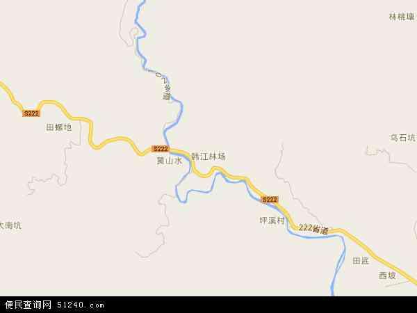 韩江林场2016年卫星地图 中国广东省潮州市饶平县韩江林场地图