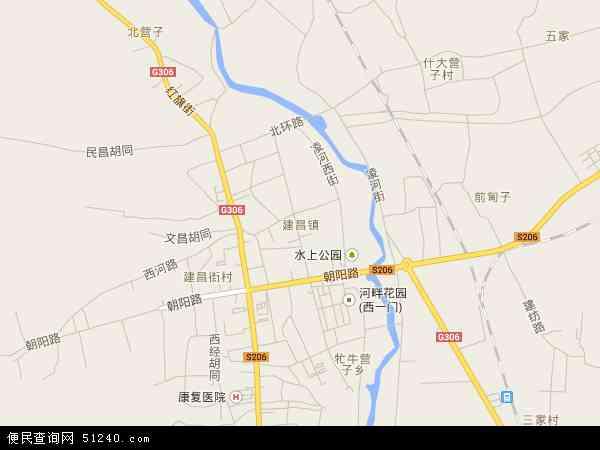 中国辽宁省葫芦岛市建昌县建昌镇地图(卫星地图)