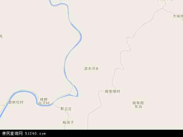 中国河北省秦皇岛市青龙满族自治县凉水河乡地图