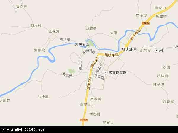 中国贵州省贵阳市修文县龙场镇地图(卫星地图)