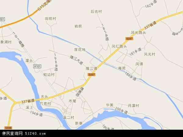 中国广东省揭阳市惠来县隆江镇地图(卫星地图)