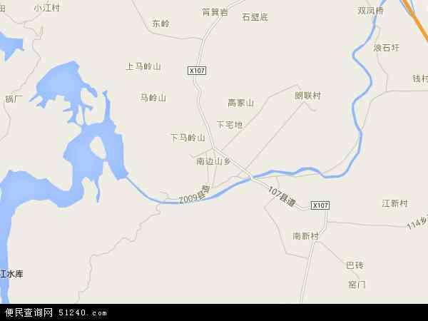 南边山乡2016年卫星地图 中国广西壮族自治区桂林市临桂区南边山乡
