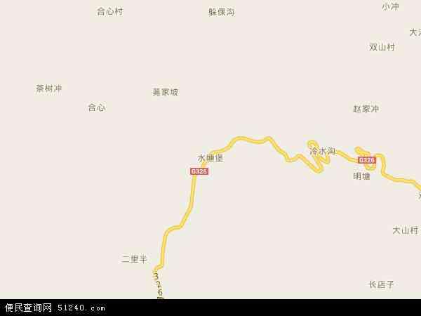 中国贵州省毕节市赫章县水塘堡乡地图(卫星地图)
