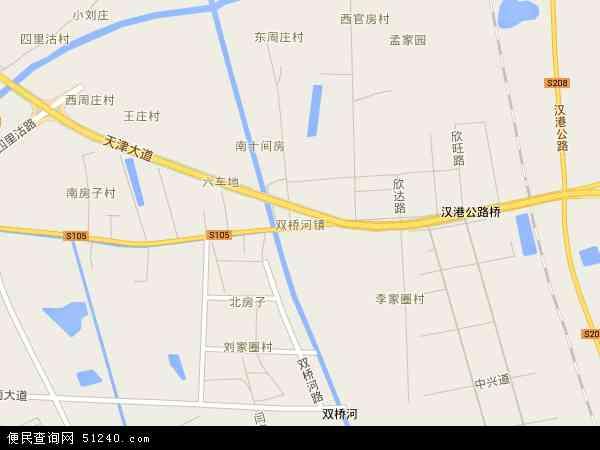 双桥河镇地图 - 双桥河镇卫星地图