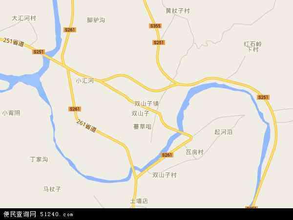 中国河北省秦皇岛市青龙满族自治县双山子镇地图(卫星地图)