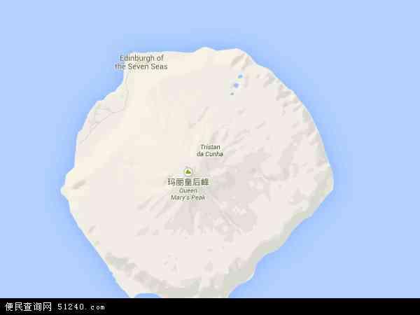 特里斯坦达库尼亚, 圣赫勒拿岛地图