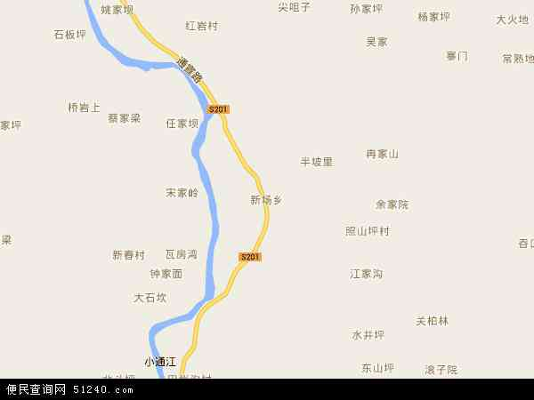 新场乡电子地图