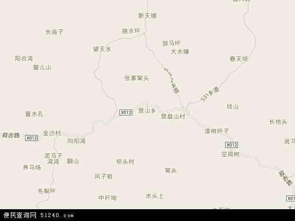 营山乡地图 - 营山乡电子地图
