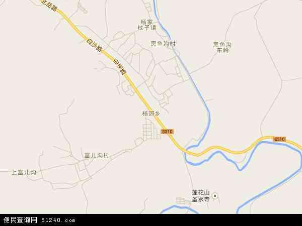 中国辽宁省葫芦岛市连山区杨郊乡地图(卫星地图)